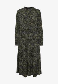Kaffe - KAKIRALA - Shirt dress - dark green zebra print - 4