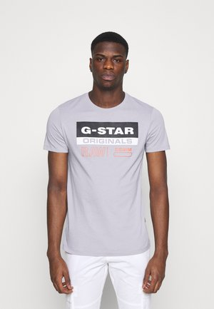 ORIGINALS LABEL LOGO SLIM ROUND SHORT SLEEVE - Triko s potiskem - steel grey