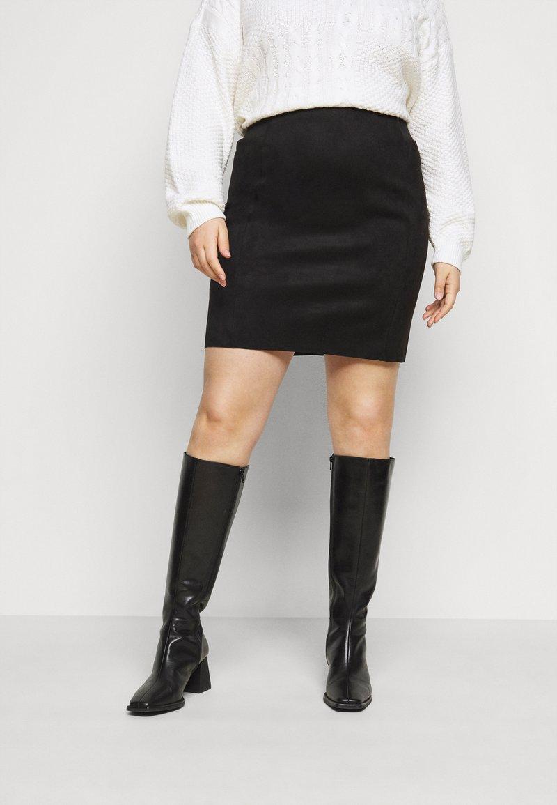 Vero Moda Curve - VMCAVA SKIRT - Mini skirt - black