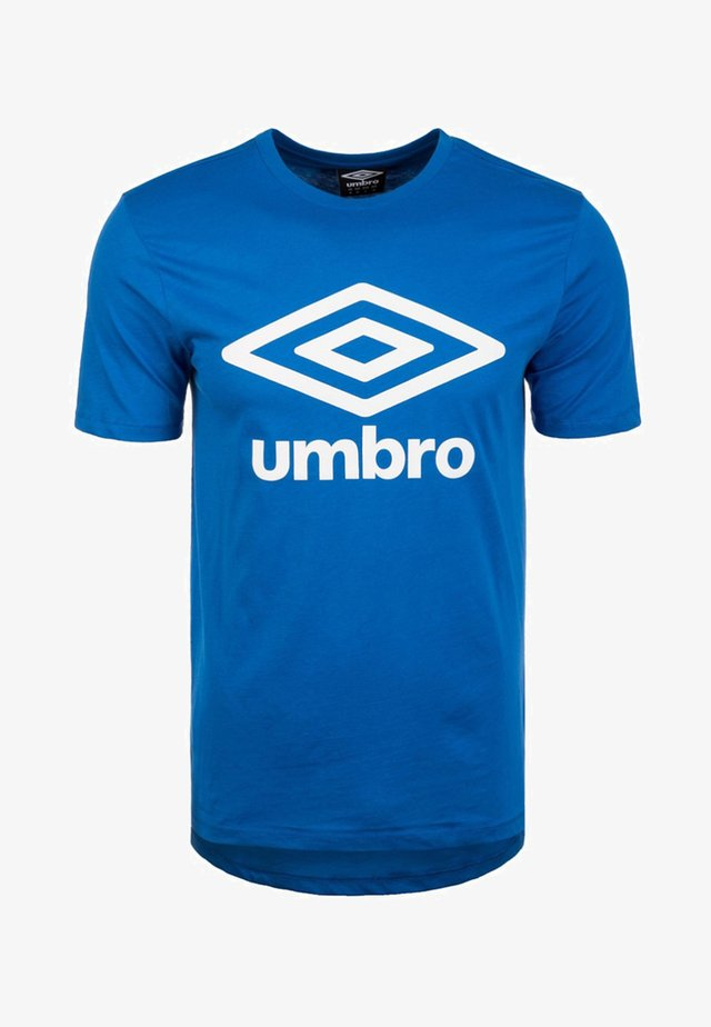 LARGE LOGO TEE - Camiseta estampada - blue