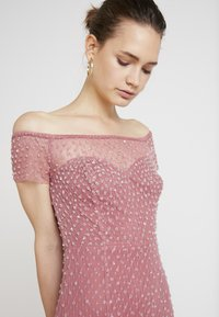 Maya Deluxe - EMBELLISHED BARDOT SPOT DRESS WITH CLUSTER SEQUINS - Occasion wear - rose pink - 6