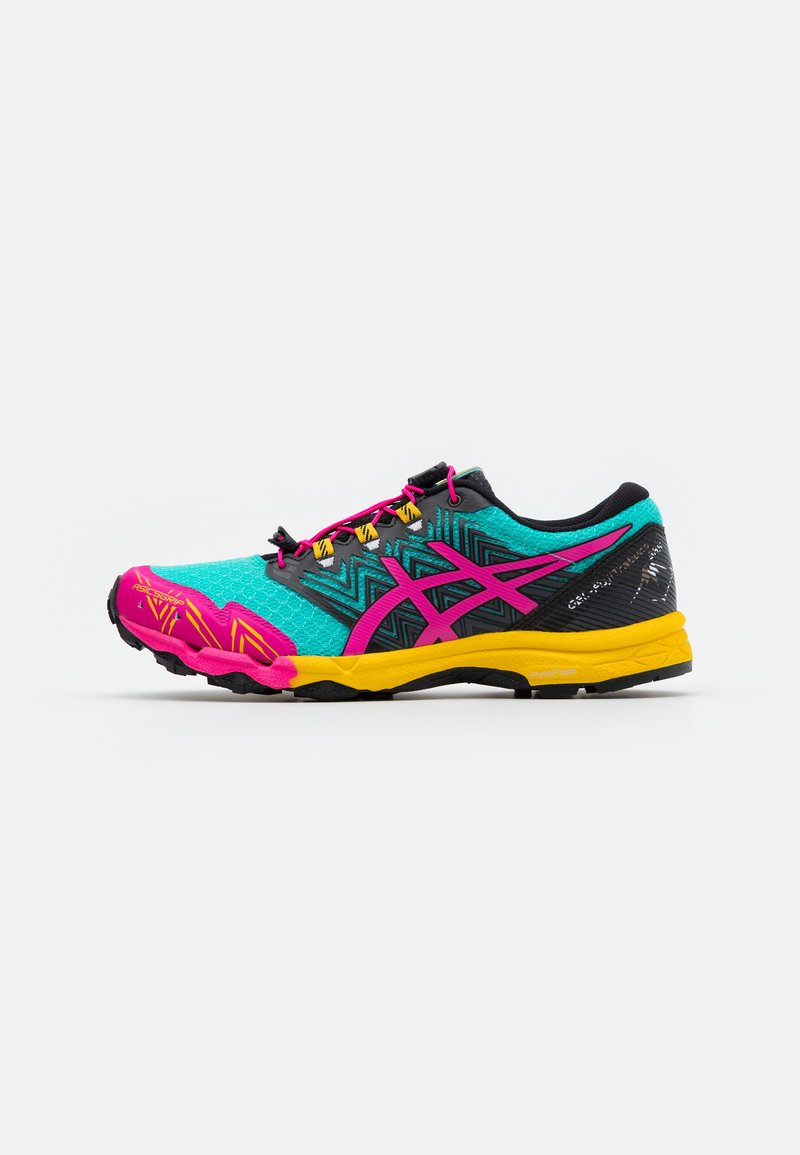 ASICS - FUJITRABUCO SKY - Trail running shoes - sea glass/pink glow
