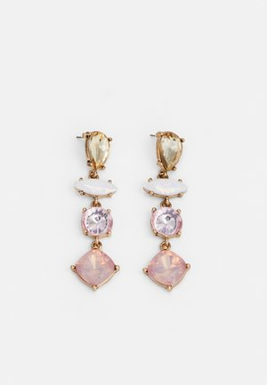 PCLILA EARRINGS - Orecchini - gold-coloured/light pink