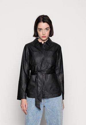 PCFEPTIMA - Imitatieleren jas - black