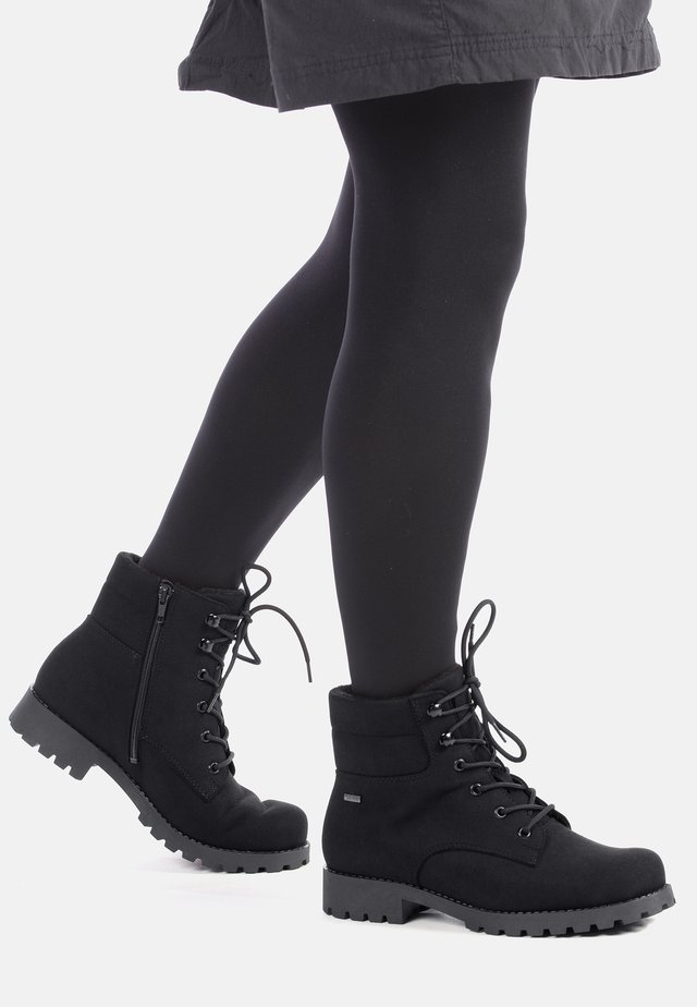 MUTKA - LACE-UP ANKLE BOOTS - Veterboots - black