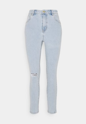 HIGH RISE CROPPED - Jeans Skinny Fit - addis blue rip
