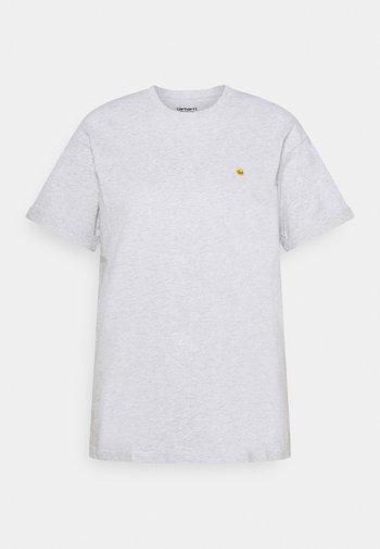 CHASE - T-shirt basique - ash heather / gold