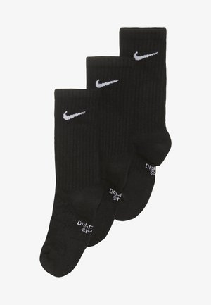 EVERYDAY CUSH CREW 3 PACK - Socks - black/white