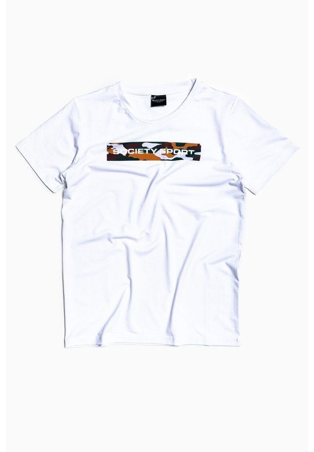 CAMO BOX - Print T-shirt - white/multi