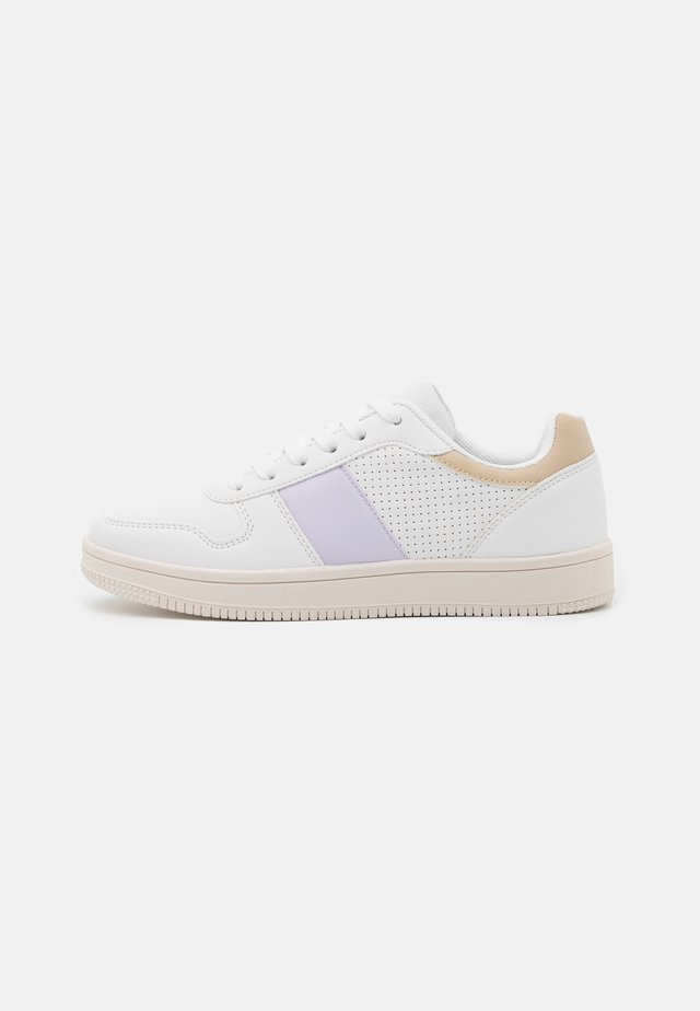 VEGAN ALBA RETRO RISE - Sneakers laag - white/taupe/lilac