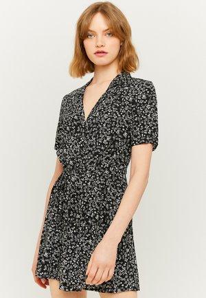 MIT BLUMEN  - Day dress - black