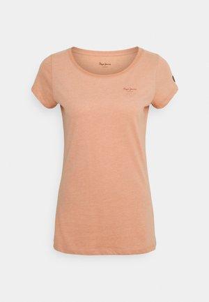 MARJORIE - T-shirt basic - washed orange