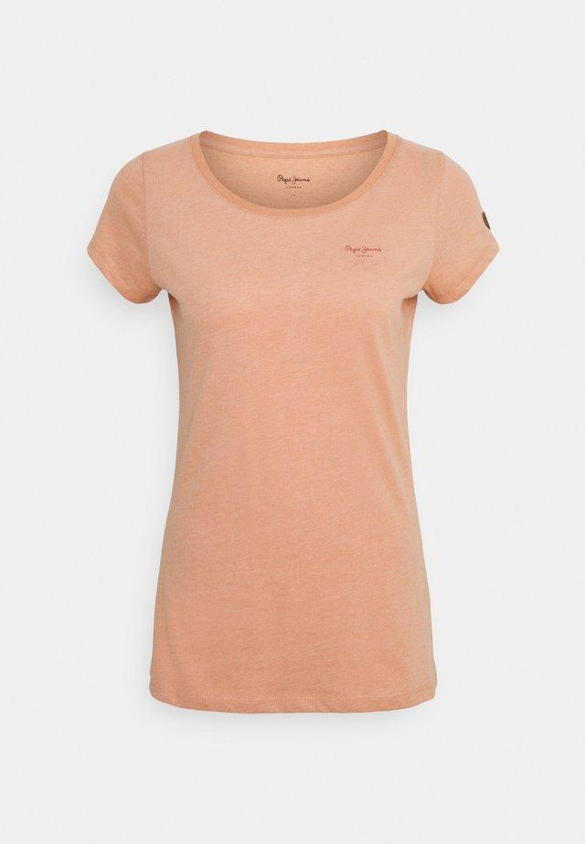 MARJORIE - Basic T-shirt - washed orange