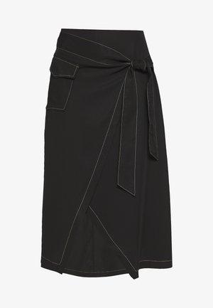 WESTERN WRAP SKIRT - Áčková sukně - black