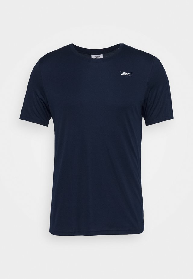 TECH TEE - T-shirt con stampa - collegiate navy