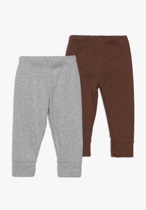 BOY PANT BABY 2 PACK - Trousers - grey melange
