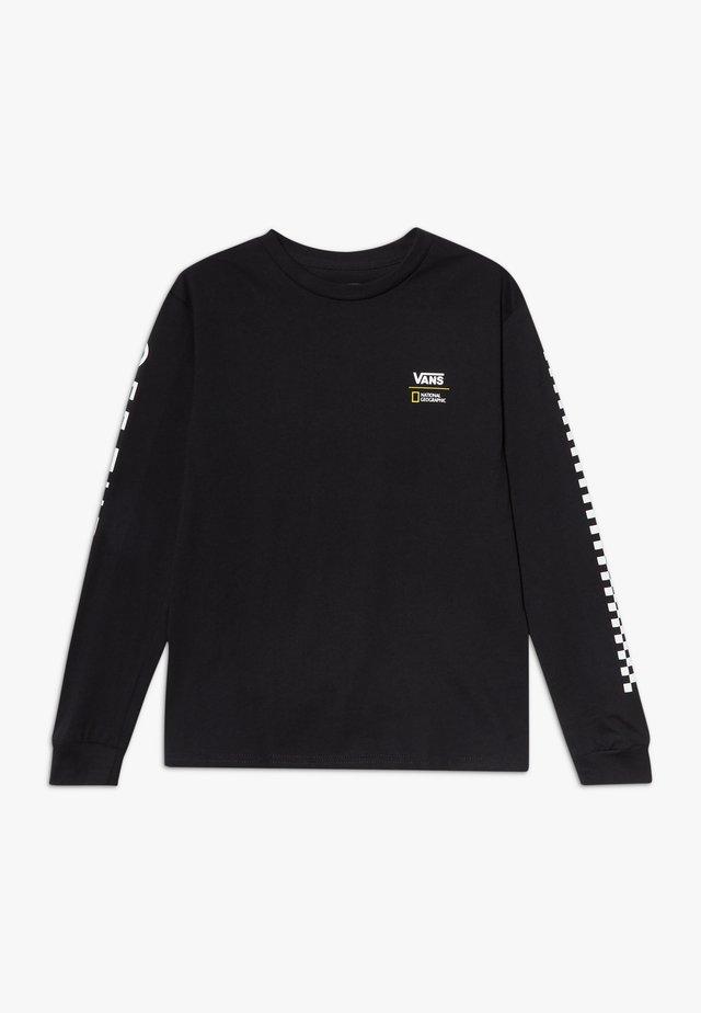GEO GLOBE BOYS - Bluzka z długim rękawem - black