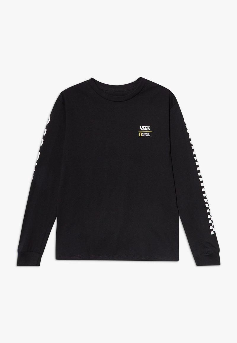 Vans - GEO GLOBE BOYS - Bluzka z długim rękawem - black