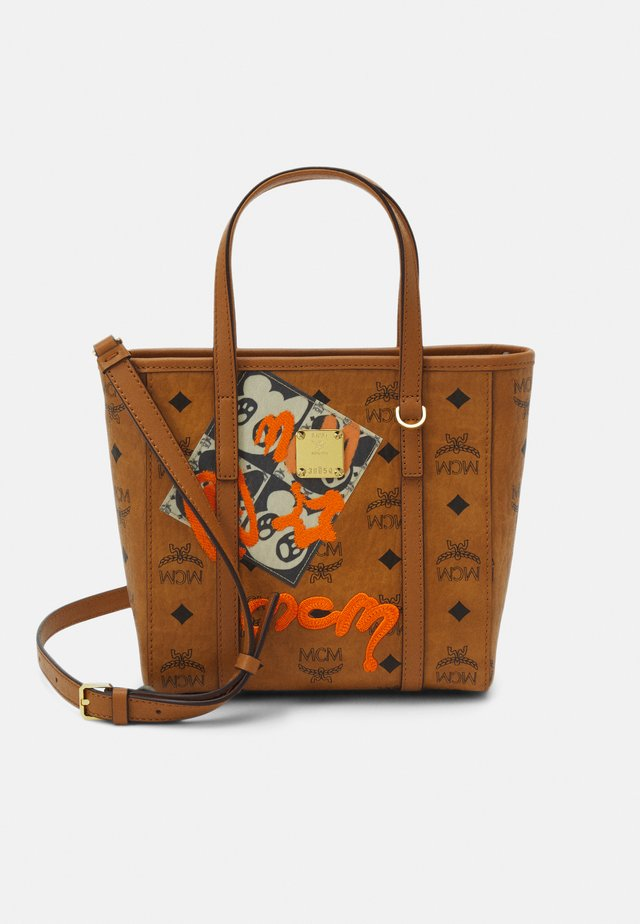 TONI BEAR SHOPPER MNI - Handbag - cognac