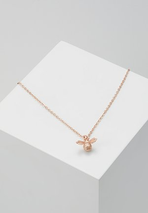 BELLEMA BUMBLE BEE PENDANT - Náhrdelník - brushed rose gold-coloured