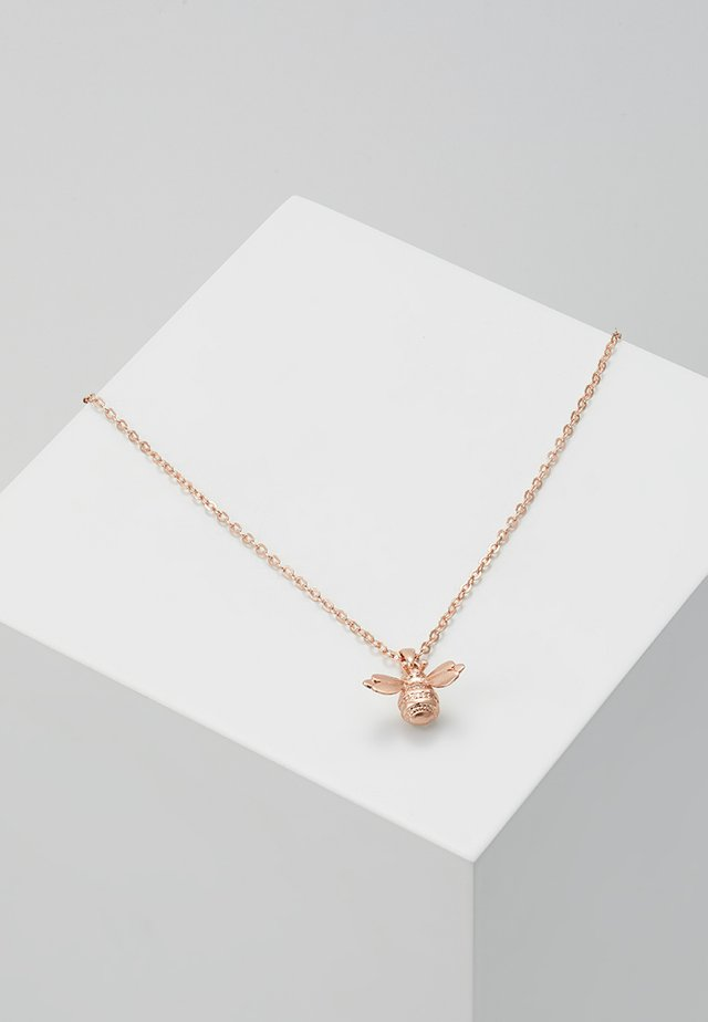 BELLEMA BUMBLE BEE PENDANT - Collier - brushed rose gold-coloured