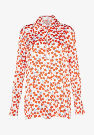 CHERRY PRINT ZIP FRONT - Blouse - ivory