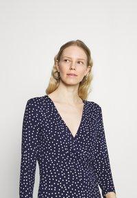 Anna Field - Quarter sleeves wrap mini dress - Jersey dress - dark blue/white - 3