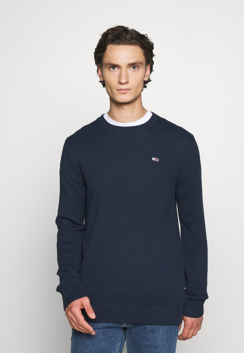 Tommy Jeans - ESSENTIAL CREW NECK UNISEX - Sweter - twilight navy