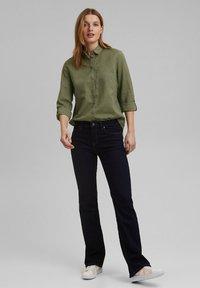 Esprit - CORE - Button-down blouse - light khaki - 1