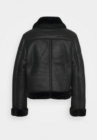 Topshop - AMIE - Faux leather jacket - black - 1