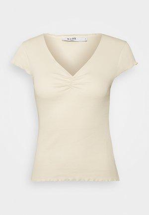 LETTUCE HEM - Print T-shirt - beige