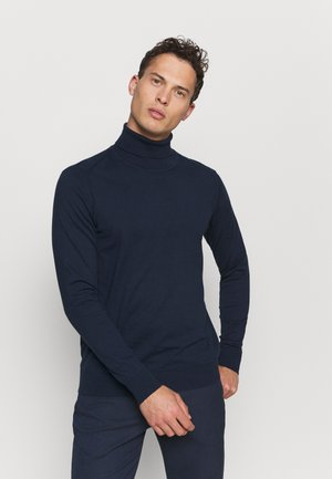 BURNS - Pullover - navy
