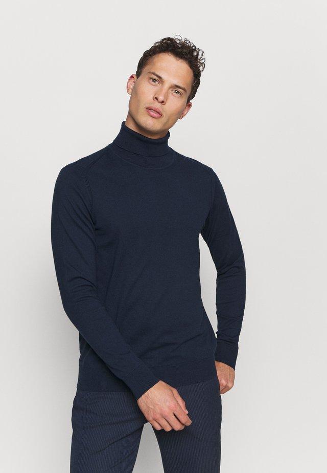 BURNS - Stickad tröja - navy
