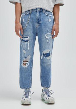Jeans baggy - mottled dark blue