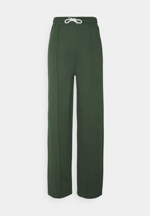 GREEN STRAIGHT JOGGERS - Tracksuit bottoms - green