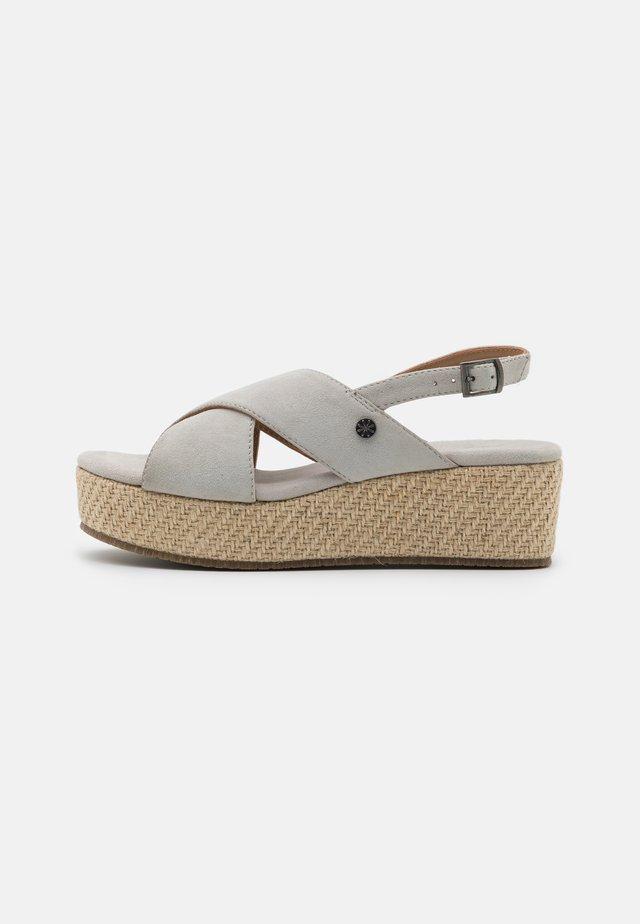 LEATHER - Sandały na platformie - grey