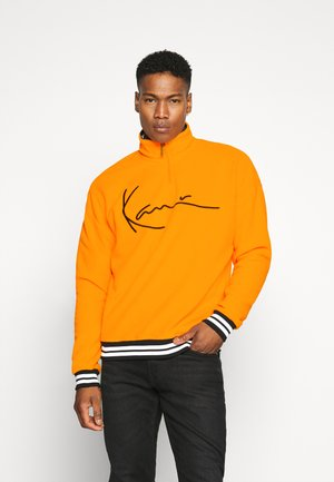 SIGNATURE TROYER - Fleece jumper - orange