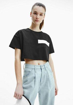 Print T-shirt - black/bright white