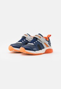 Geox - SPAZIALE BOY - Sneakersy niskie - navy/orange - 1
