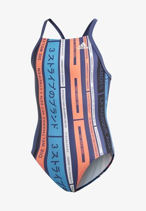 GRAPHIC SWIMSUIT - Swimsuit - blue