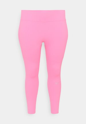 EPIC PLUS - Legginsy - pink glow/silver