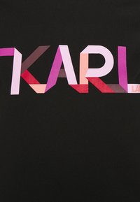 KARL LAGERFELD - STRIPE LOGO - T-Shirt print - black - 6