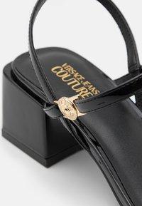 Versace Jeans Couture - Sandály - black - 6