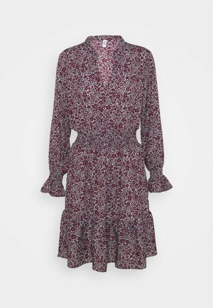 ONLJUNO SHORT DRESS - Kjole - blue/dark red