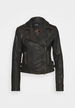 TILLY - Leather jacket - black