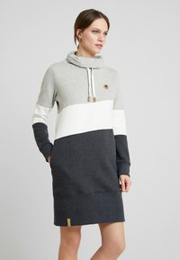 edc by Esprit - COLORBLCK DRESS - Kjole - light grey - 0