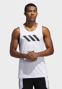adidas Performance - SPORT 3 STRIPES TANK - Camiseta de deporte - white - 0