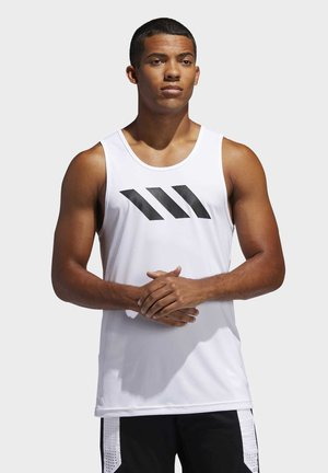 SPORT 3 STRIPES TANK - T-shirt de sport - white