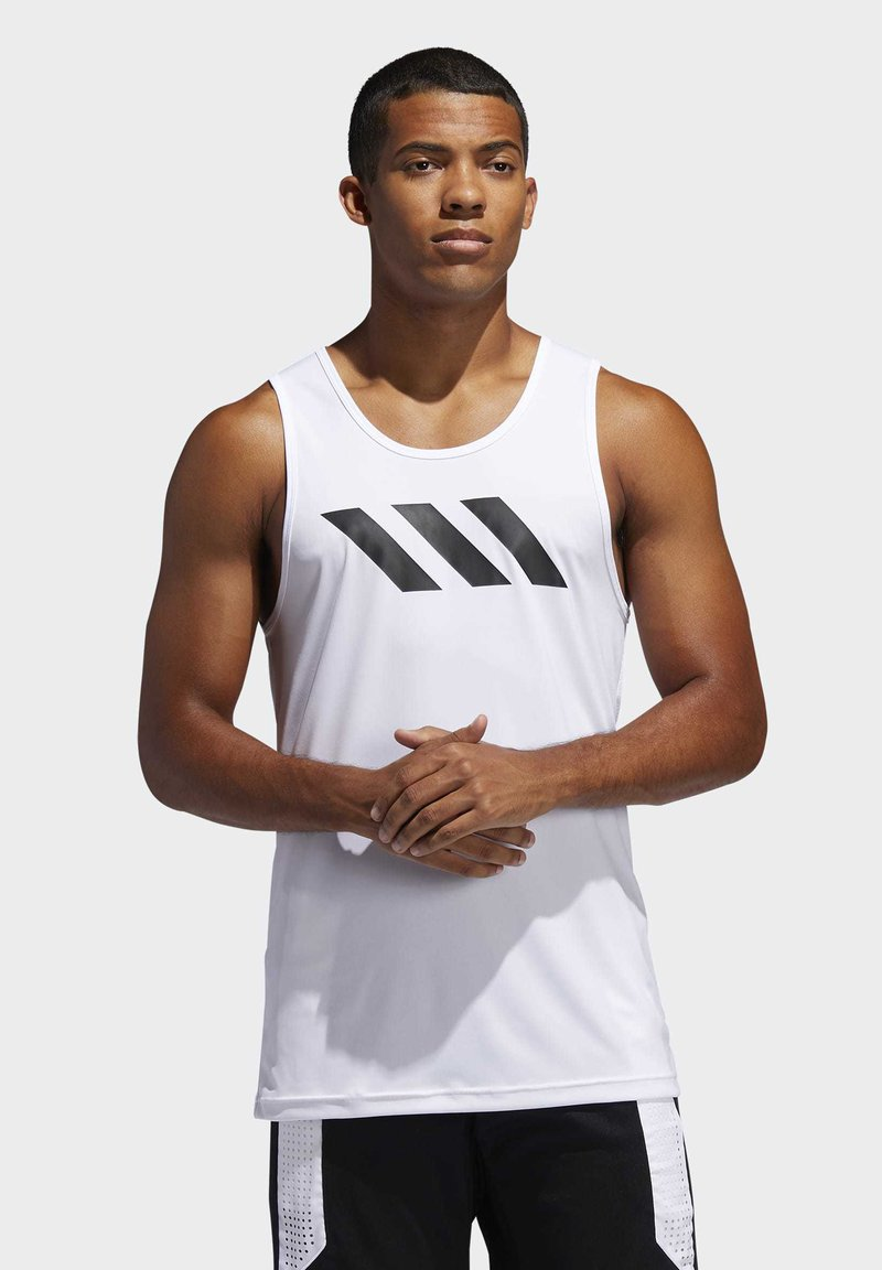 adidas Performance - SPORT 3 STRIPES TANK - Camiseta de deporte - white