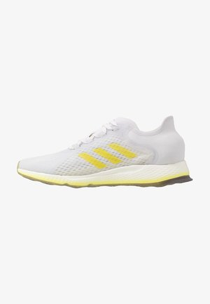FOCUS BREATHE - Neutral running shoes - grey/shock yellow/cloud white